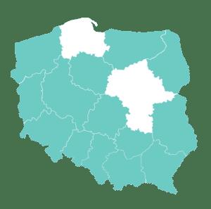 Mapa Polski BUR